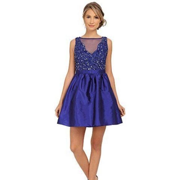 99eff69a3e4 Adrianna Papell Short Beaded Taffe Dress NEW Sz. 8